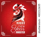 chinese new year greeting card... | Shutterstock .eps vector #483212635