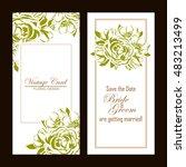 romantic invitation. wedding ... | Shutterstock . vector #483213499