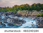 view of rapids in the potomac... | Shutterstock . vector #483240184