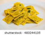 handmade agnolotti  type of... | Shutterstock . vector #483244135