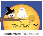 halloween card  trick or treat  ... | Shutterstock .eps vector #483248719