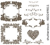 set of vector design elements ... | Shutterstock .eps vector #483249811