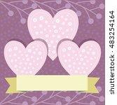 valentine's day  valentine's... | Shutterstock .eps vector #483254164
