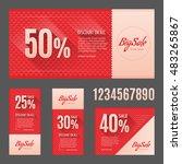 big sale. vector flyer  card | Shutterstock .eps vector #483265867