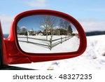 landscape reflected in the rear ... | Shutterstock . vector #48327235