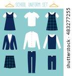 school uniforms for children.... | Shutterstock .eps vector #483277255