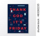 thank god its friday swiss... | Shutterstock .eps vector #483282235