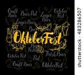oktoberfest gold lettering over ...   Shutterstock .eps vector #483286507