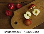 apples on a cutting board | Shutterstock . vector #483289555