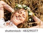 nature  summer holidays ... | Shutterstock . vector #483290377