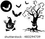 set of different vector... | Shutterstock .eps vector #483294739