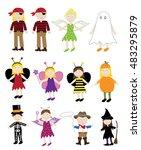 halloween costumes | Shutterstock .eps vector #483295879