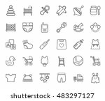 baby products  contour icons ...   Shutterstock .eps vector #483297127