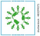 kids globe icon vector | Shutterstock .eps vector #483299371