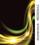 abstract shiny golden... | Shutterstock .eps vector #483302611