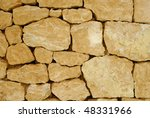 Antique Stony Wall Background