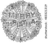 vector doodle merry christmas ... | Shutterstock .eps vector #483321319