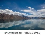 spectacular pangong lake with... | Shutterstock . vector #483321967