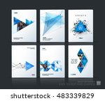 brochure template layout  cover ... | Shutterstock .eps vector #483339829