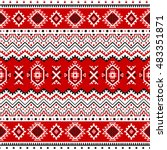 ethnic seamless pattern with... | Shutterstock .eps vector #483351871