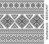 ethnic seamless monochrome...   Shutterstock .eps vector #483351907