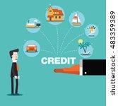 financial adviser offering a... | Shutterstock .eps vector #483359389