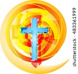 abstract modern christianity...   Shutterstock .eps vector #483361999