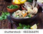 Latin American Food. Seafood...