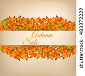 background for autumn sale with ... | Shutterstock .eps vector #483372229