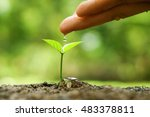 agriculture. hand nurturing and ... | Shutterstock . vector #483378811