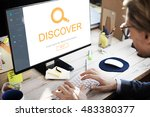 customer service helpdesk... | Shutterstock . vector #483380377