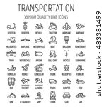 set of transportation icons in... | Shutterstock .eps vector #483381499