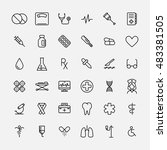 set of medical icons in modern... | Shutterstock .eps vector #483381505