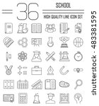 education and back to school... | Shutterstock .eps vector #483381595