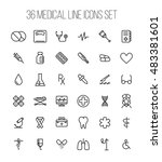 set of medical icons in modern... | Shutterstock .eps vector #483381601