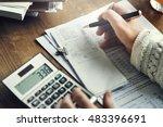 calculation financial budget...   Shutterstock . vector #483396691