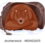 animal illustration of a large... | Shutterstock .eps vector #483402655