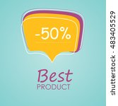 banner at a discount  sale the... | Shutterstock .eps vector #483405529