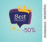 banner at a discount  sale the... | Shutterstock .eps vector #483405541