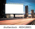 blank template  for outdoor... | Shutterstock . vector #483418801