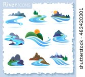 river and landscape icons | Shutterstock .eps vector #483420301