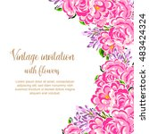 romantic invitation. wedding ... | Shutterstock . vector #483424324