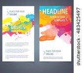 abstract vector brochure... | Shutterstock .eps vector #483425497