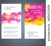 abstract vector brochure... | Shutterstock .eps vector #483425509