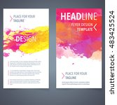 abstract vector brochure... | Shutterstock .eps vector #483425524