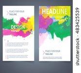 abstract vector brochure... | Shutterstock .eps vector #483425539