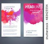abstract vector brochure... | Shutterstock .eps vector #483425554