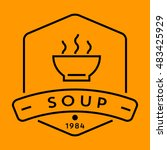 vector soup icon with linear... | Shutterstock .eps vector #483425929