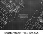 blueprints. mechanics. cover.... | Shutterstock .eps vector #483426565