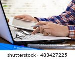 business accounting  | Shutterstock . vector #483427225